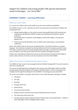 HARINGEY CAMHS – Learning Difficulties