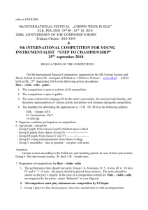 9th INTERNATIONAL COMPETITION FOR YOUNG