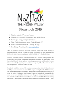 Nozstock: Early Birds and Theme Announced for 2015