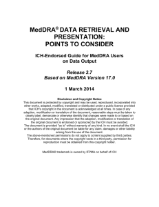 Section 4 – STANDARDISED MedDRA QUERIES