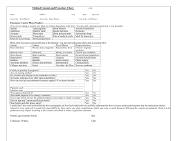 Medical Consent and Procedure Form