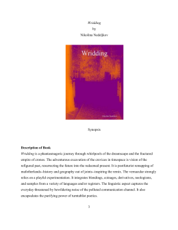 Wridding by Nikolina Nedeljkov Synopsis Description of Book