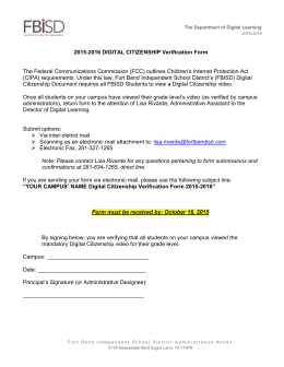 2015-2016 Digital Citizenship Verification Form