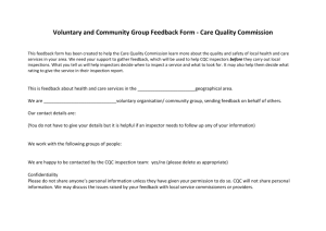 Voluntary and Community Group Feedback Form