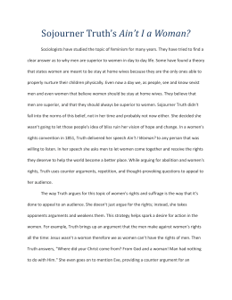 sojourner truth assignment rhetorical analysis essay