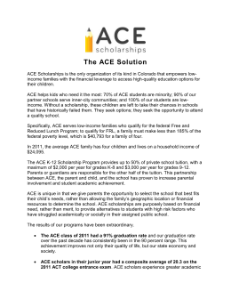 The ACE Solution - ACE Scholarships