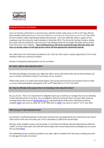 Industrial Action Fact Sheet: May - June 2015