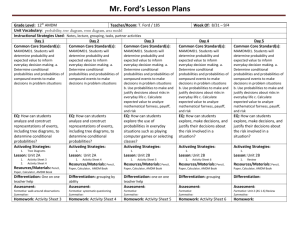 Mr. Ford`s Lesson Plans
