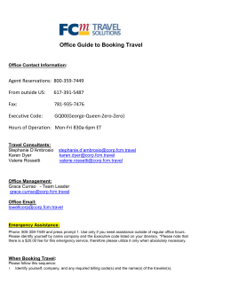 BVARI Guide to booking Travel_2013_11