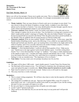 hamlet final essay  hamlet essay prompts