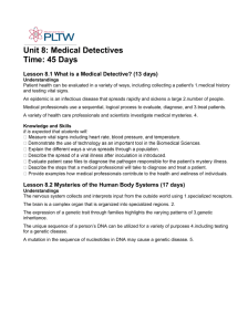 Unit 8: Medical Detectives Time