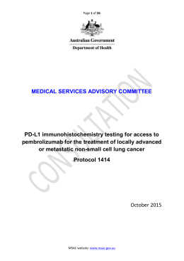 Consultation Protocols - the Medical Services Advisory Committee