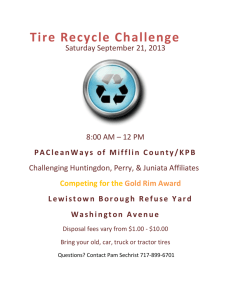 Tire Recycle Challenge 2013