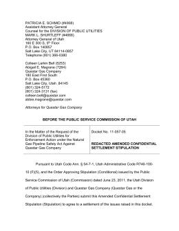 Redacted Amended Confidential Settlement Stipulation