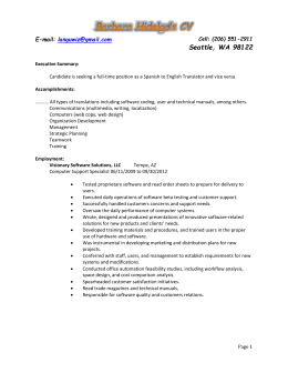to Full CV of Barbara Hidalgo