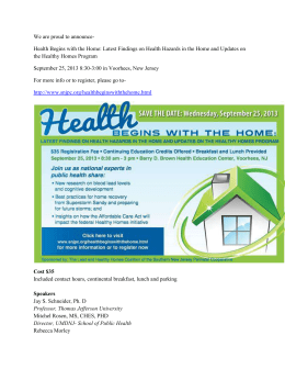 for more information on the Healthy Homes Conference in New Jersey.