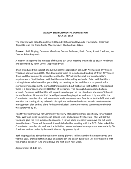 Avalon Environmental Commission Minutes July 15 2014