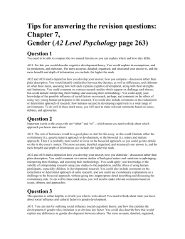Tips for answering the revision questions: Chapter 7