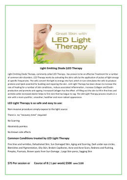 LED Therapy - Skinovation Day Spa