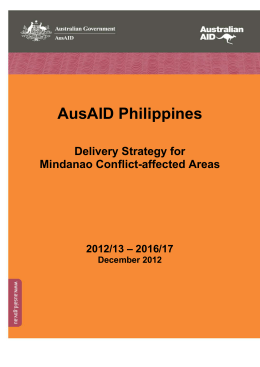 Why develop a specific strategy for Mindanao conflict