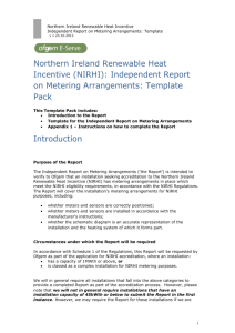 Northern Ireland Renewable Heat Incentive- Independent