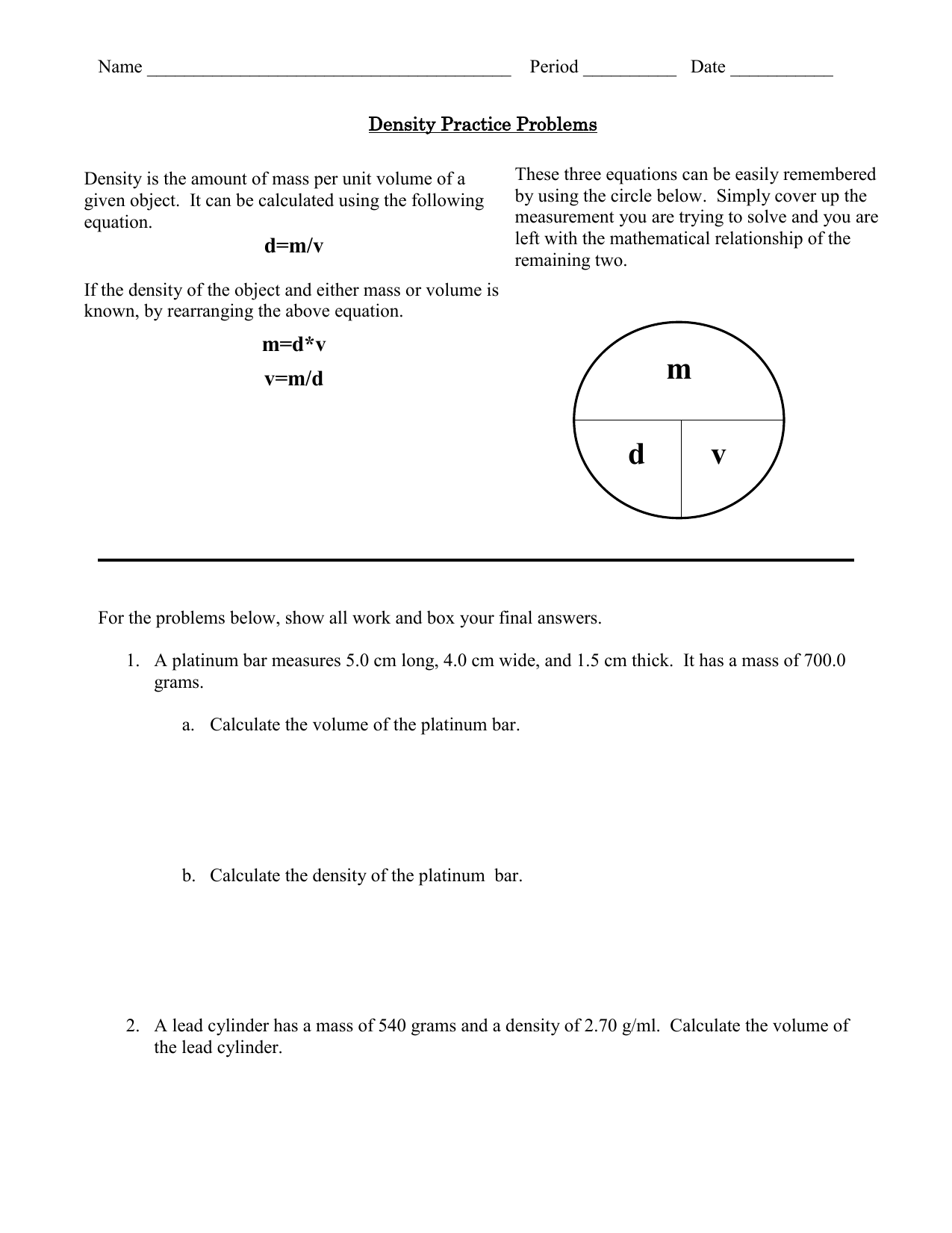 Density practice problems 0068068181 5957f50d45f79e3357399d53850dd823g ibookread