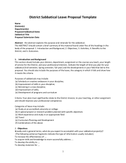 Sabbatical leave application sabbatical leave proposal spiritdancerdesigns Image collections