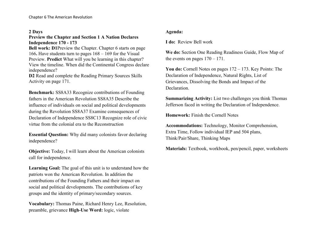 worksheet Declaration Of Independence Grievances Worksheet lesson plans 1130