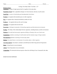 Ecology Test 2014 Study Guide (ANSWERS)