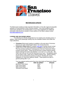 Motorcoach Update - San Francisco Travel Association