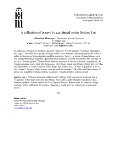 Press Release - The University of Michigan Press