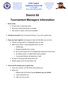 District 68 Tournament Managers Information