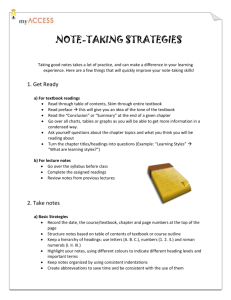 Note Taking Strategies document