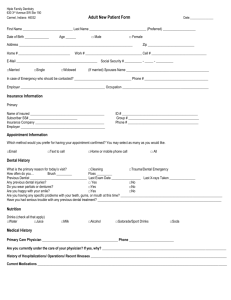 Adult New Patient Form - Hiple Family Dentistry