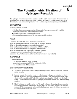 The Potentiometric Titration of Hydrogen Peroxide