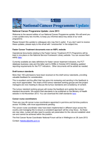 Faster Cancer Treatment documents now on
