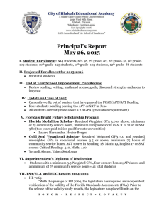 Principal_s Report- May 26 2015 - City of Hialeah Educational