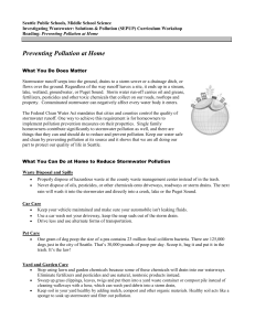 Preventing Pollution at Home - Seattle Public Schools Secondary