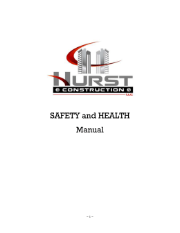 Safety and Health Manuel