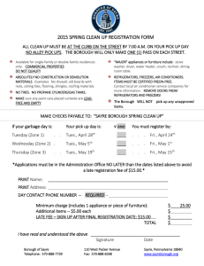 2015 spring clean up registration form