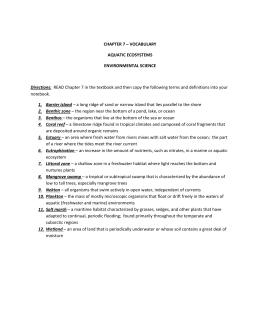 07 freshwater ecosystems marine ecosystems rh studylib net Ecosystem 4th Grade Study Guide chapter 7 aquatic ecosystems study guide answers