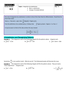 Section 4.5: Integration by U