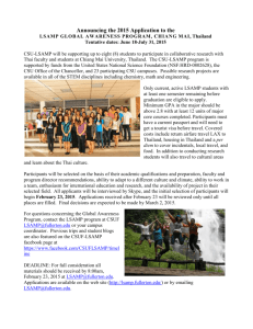 CSU-LSAMP Global Awareness Program Thailand Application