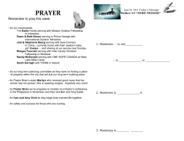 CFBC Sermon notes Prayer and HG Qs Oct 12 2014