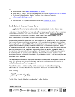 To read the Bee Coalition`s letter to in response to the NFU