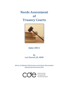 Needs Assessment of Truancy Courts Report