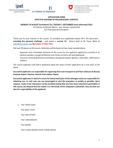 Effective Advising 2015 Application Form