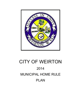 City of Weirton 2014 Municipal Home Rule Plan