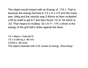 Energy Question Exemplars