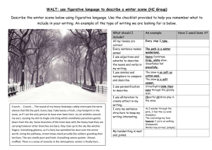 WALT: use figurative language to describe a winter scene (HC Group)